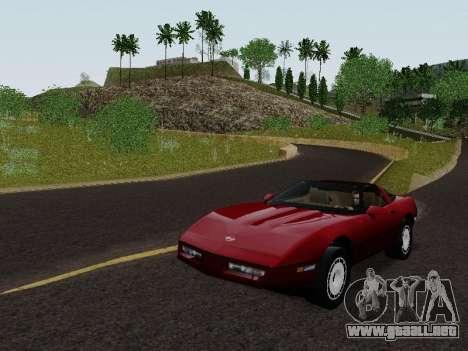 Chevrolet Corvette C4 1984 para GTA San Andreas vista posterior izquierda