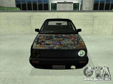 Volkswagen Golf 2 Rat Style para GTA San Andreas vista posterior izquierda
