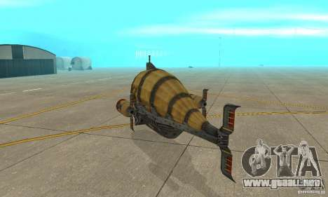 Dirigible de TimeShift para la visión correcta GTA San Andreas
