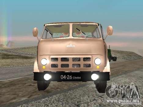 MAZ 503 para la visión correcta GTA San Andreas