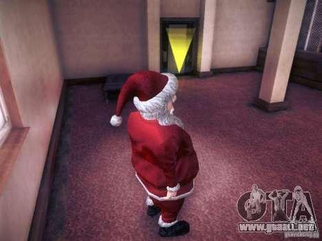 Santa Claus para GTA San Andreas sucesivamente de pantalla