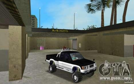 Toyota Hilux Surf para GTA Vice City vista posterior