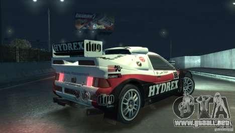 Ford RS200 Evolution Rallycross para GTA 4 vista hacia atrás