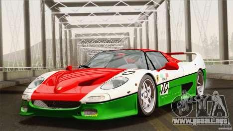 Ferrari F50 v1.0.0 Road Version para vista inferior GTA San Andreas