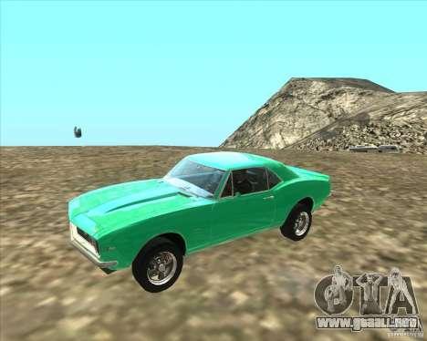 Chevrolet Camaro z28 para GTA San Andreas left