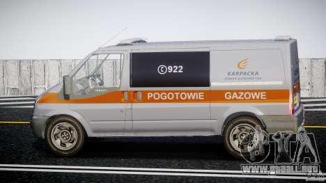Ford Transit Usluga polski gazu [ELS] para GTA 4 left