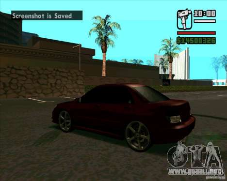 Subaru Impreza tuning para GTA San Andreas vista posterior izquierda