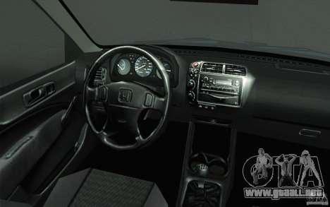 Honda Civic EK9 JDM v1.0 para la vista superior GTA San Andreas