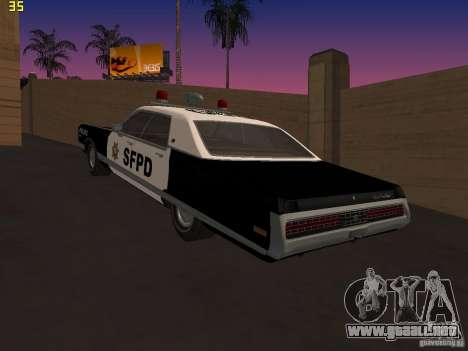 Chrysler New Yorker Police 1971 para GTA San Andreas left