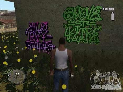 My Gang Tags para GTA San Andreas segunda pantalla