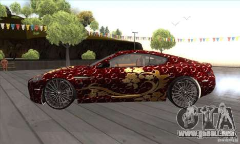 Aston Martin DB9 Female Edition para GTA San Andreas left