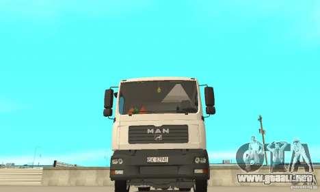 MAN TGL para visión interna GTA San Andreas