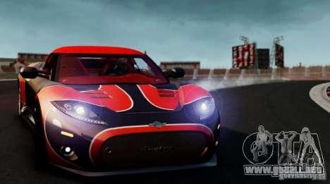 Spyker C8 Aileron Spyder Final para GTA 4 visión correcta
