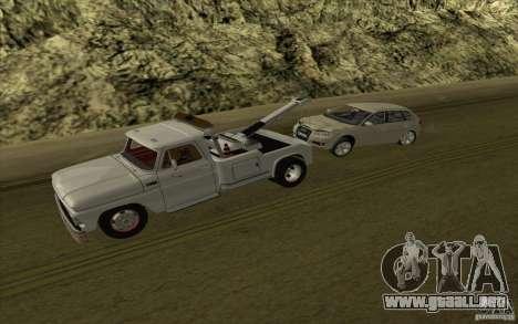 Camión de remolque Chevrolet para GTA San Andreas vista hacia atrás
