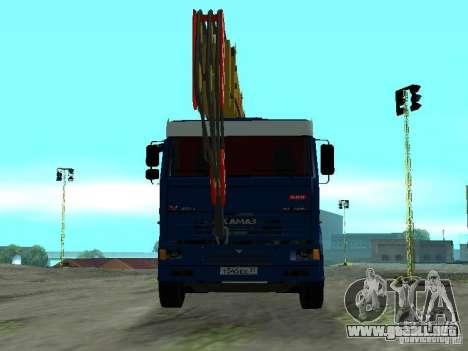 KAMAZ 65117 Ivanovets para GTA San Andreas vista hacia atrás