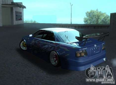 Toyota Chaser JZX100 Weld para GTA San Andreas vista posterior izquierda