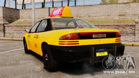 Dodge Intrepid 1993 Taxi para GTA 4 Vista posterior izquierda