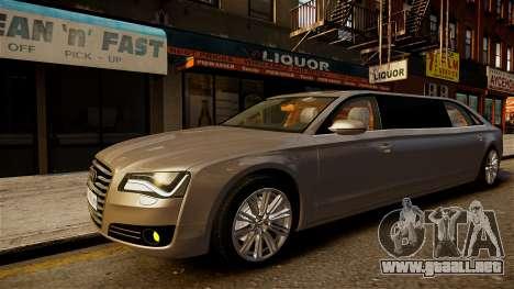 Limusina Audi A8 para GTA 4