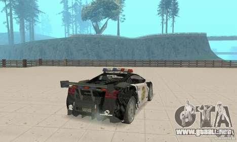 Lamborghini Gallardo Cop V1.0 para GTA San Andreas left