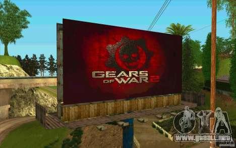 Vallas publicitarias en GEARS OF WAR para GTA San Andreas