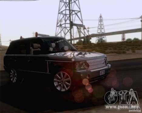 Land Rover Range Rover Supercharged 2008 para la vista superior GTA San Andreas
