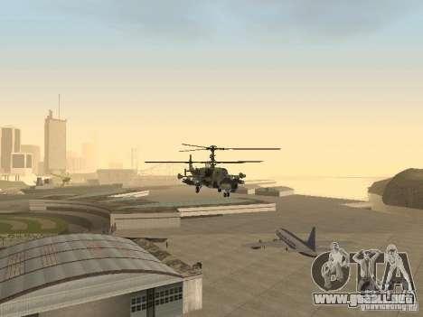 Ka-50 Black Shark para visión interna GTA San Andreas