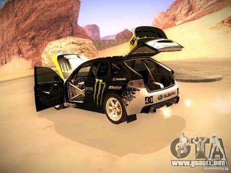 Subaru Impreza Gymkhana para visión interna GTA San Andreas