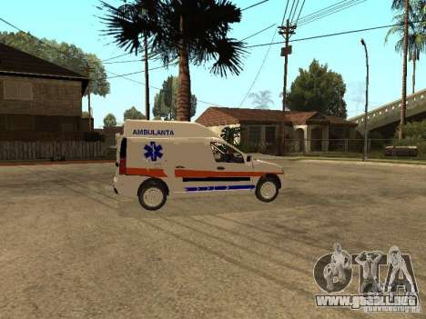 Dacia Logan Ambulanta para GTA San Andreas vista hacia atrás