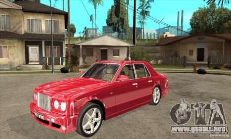 Bentley Arnage T para GTA San Andreas left
