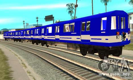 Liberty City Train Sonic para GTA San Andreas vista posterior izquierda