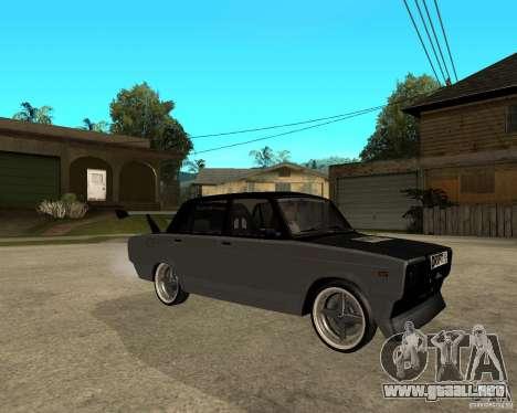 ВАЗ 2107 deriva para la visión correcta GTA San Andreas