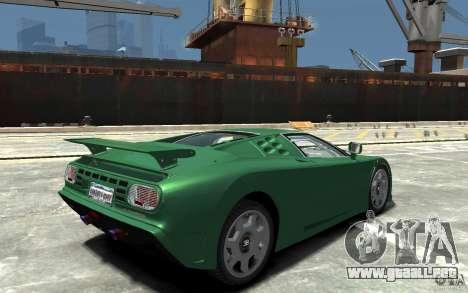Bugatti EB110 Super Sport para GTA 4 visión correcta