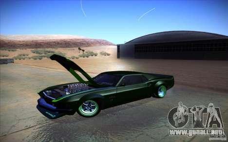 Ford Mustang RTR Drift para GTA San Andreas vista posterior izquierda