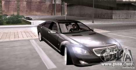 Mercedes-Benz S600 v12 para GTA San Andreas vista hacia atrás