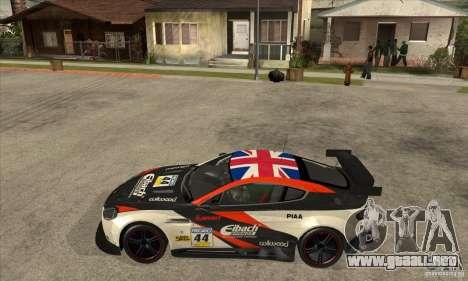 Aston Martin v8 Vantage N400 para GTA San Andreas vista posterior izquierda