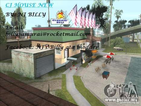 CJ house cleo para GTA San Andreas segunda pantalla