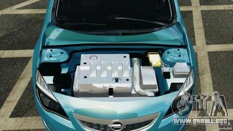 Opel Astra 2010 v2.0 para GTA 4 vista hacia atrás