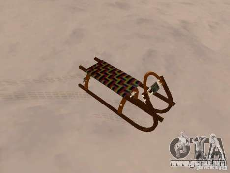 Trineo v2 para GTA San Andreas