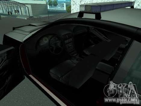 Ford Mustang GT Police para GTA San Andreas vista posterior izquierda
