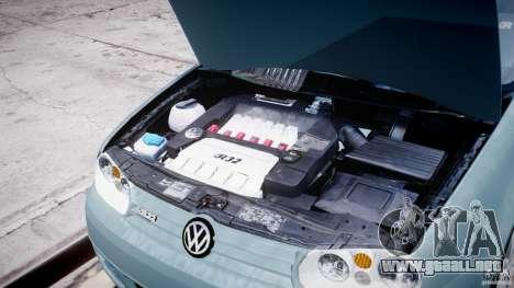Volkswagen Golf IV R32 para GTA 4 vista interior