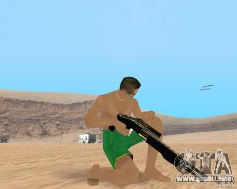 Gold weapons pack para GTA San Andreas tercera pantalla