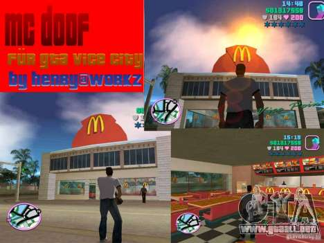 McDonalds para GTA Vice City
