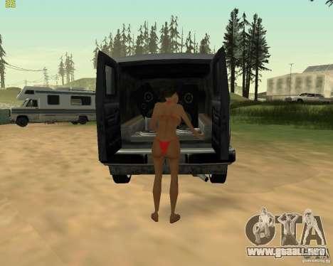 Fiesta de la naturaleza para GTA San Andreas quinta pantalla