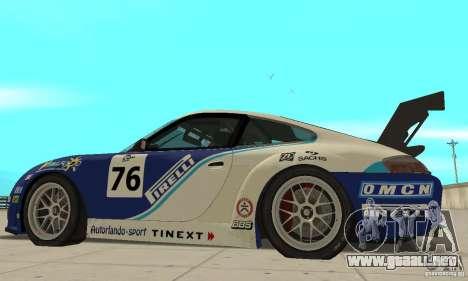 Porsche 911 Le GRID para GTA San Andreas vista posterior izquierda