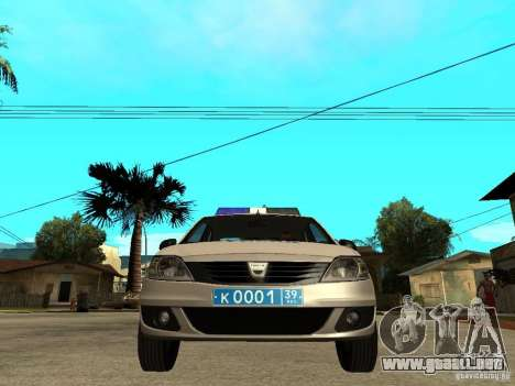 Dacia Logan Police para la visión correcta GTA San Andreas