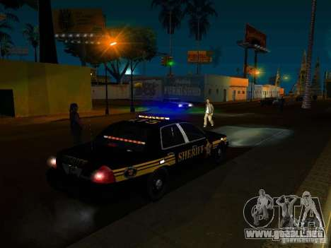 Ford Crown Victoria Erie County Sheriffs Office para la vista superior GTA San Andreas