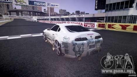 Toyota Supra ProStreet Style para GTA 4 Vista posterior izquierda