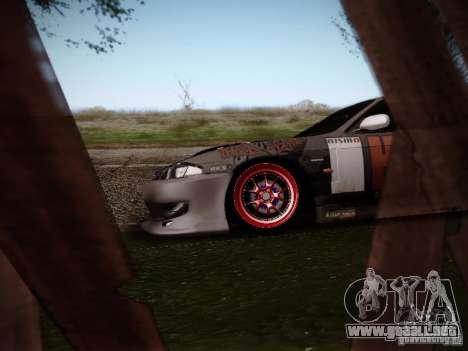 Nissan Silvia S14 Hell para GTA San Andreas vista hacia atrás