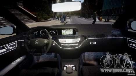 Mercedes-Benz S-Class W221 BRABUS SV12 para GTA 4 visión correcta