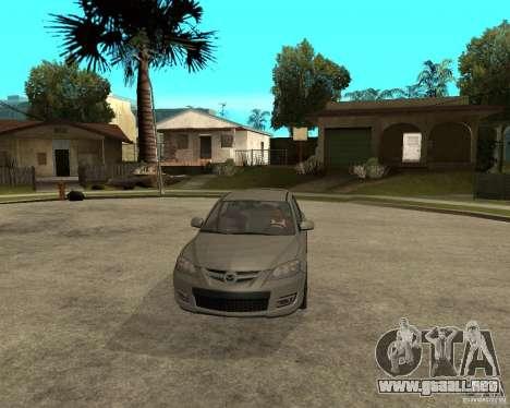 Mazda 3 Sport 2003 para GTA San Andreas vista hacia atrás